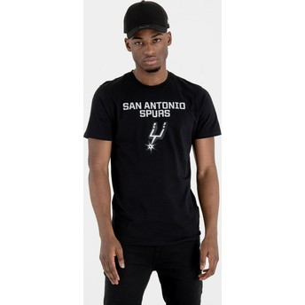 T-shirt à manche courte noir San Antonio Spurs NBA New Era