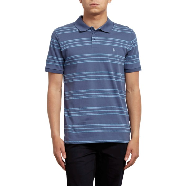 polo-a-manche-courte-bleu-wowzer-stripe-deep-blue-volcom