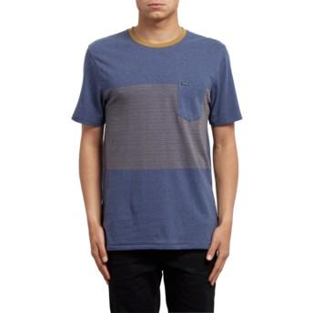 T-shirt à manche courte bleu Threezy Deep Blue Volcom