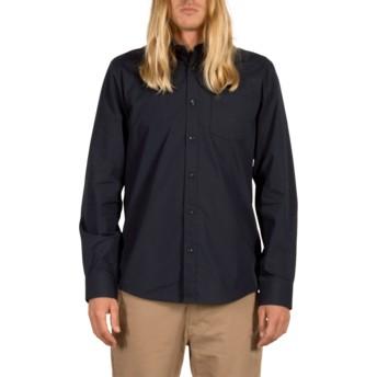 Chemise à manche longue bleue marine Everett Solid Navy Volcom