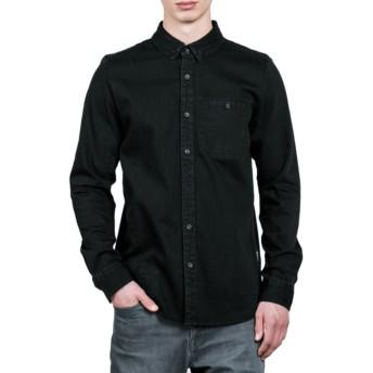 Chemise à manche longue noire Crowley Black Volcom