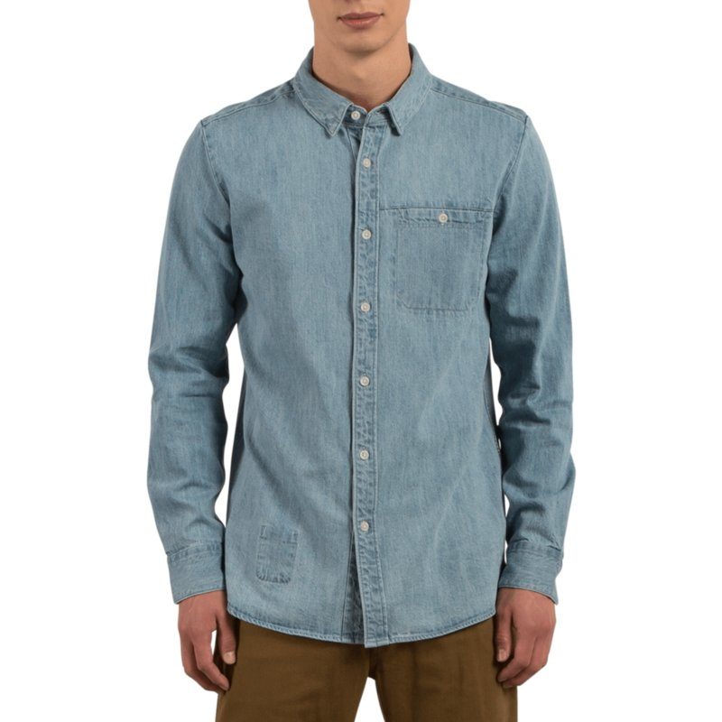 chemise-a-manche-longue-bleue-crowley-washed-blue-volcom