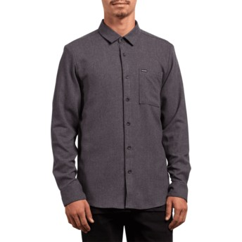 Chemise à manche longue noire Caden Solid Asphalt Black Volcom