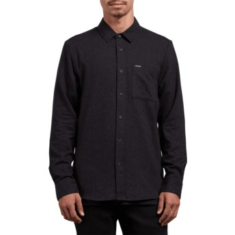 Chemise à manche longue noire Caden Solid Black Volcom