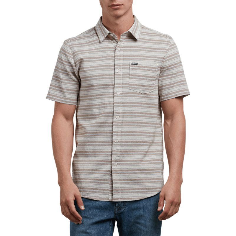 chemise-a-manche-courte-grise-sable-clay-volcom