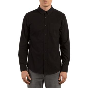 Chemise à manche longue noire Oxford Stretch Black Volcom
