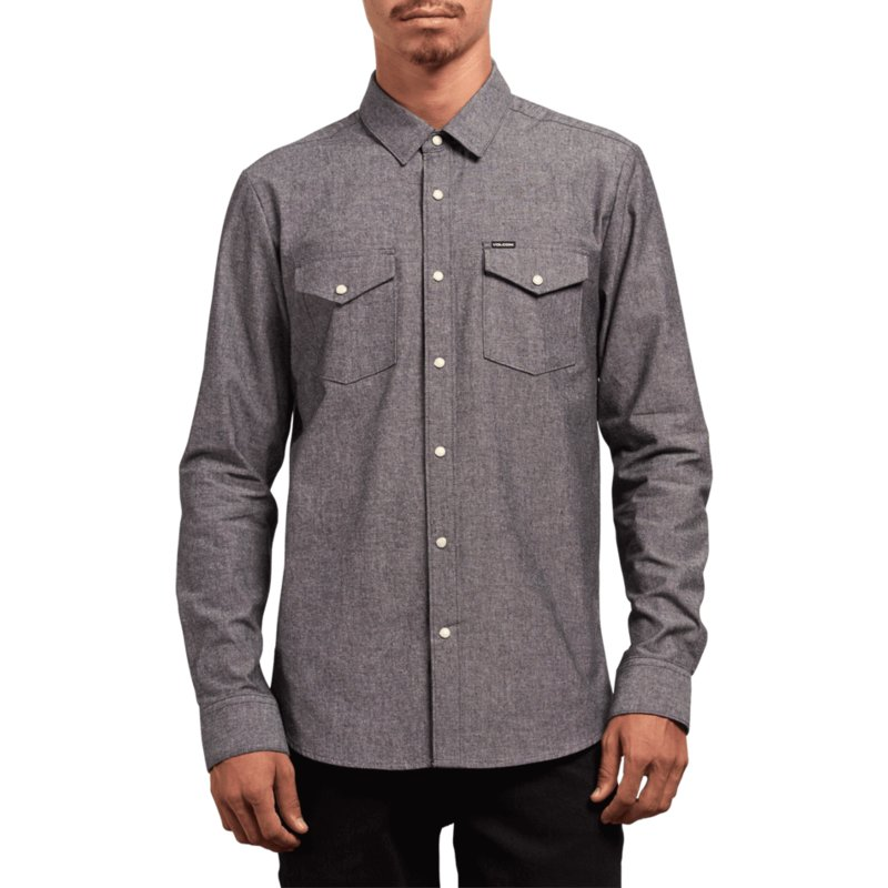 chemise-a-manche-longue-grise-hayes-grey-volcom