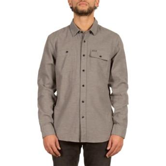 Chemise à manche longue grise Hickson Dark Grey Volcom