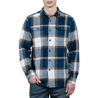 Chemise à manche longue bleue marine à carreaux Heavy Daze Indigo Volcom