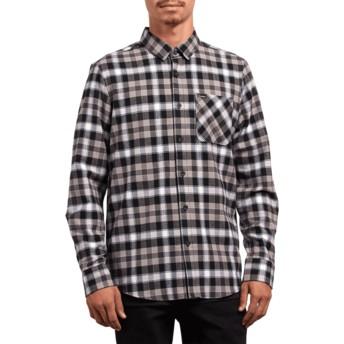 Chemise à manche longue noire à carreaux Caden Plaid Black Volcom