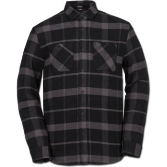 Chemise à manche longue noire à carreaux Shader Black Volcom