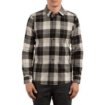 Chemise à manche longue grise et noire à carreaux Caden Cloud Volcom