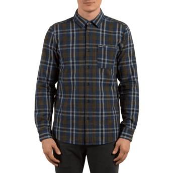 Chemise à manche longue bleue marine à carreaux Marcos Smokey Blue Volcom