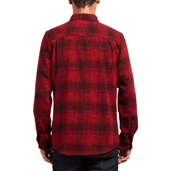 chemise-a-manche-longue-rouge-buffalo-glitch-engine-red-volcom