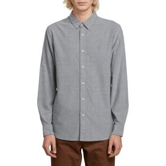Chemise à manche longue grise Oxford Stretch Black Volcom