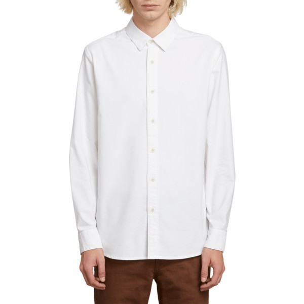 chemise-a-manche-longue-blanche-oxford-stretch-white-volcom