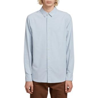 Chemise à manche longue bleue Oxford Stretch Wrecked Indigo Volcom