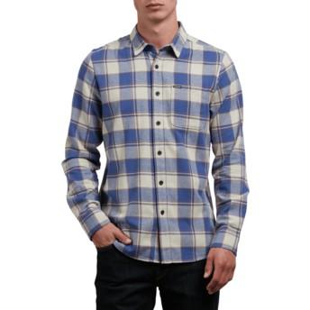 Chemise à manche longue grise et bleue à carreaux Caden Clay Volcom