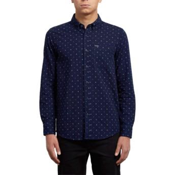 Chemise à manche longue bleue marine Earl Indigo Volcom