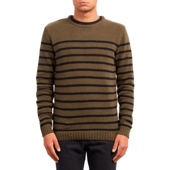 Pull vert Edmonder Striped Military Volcom