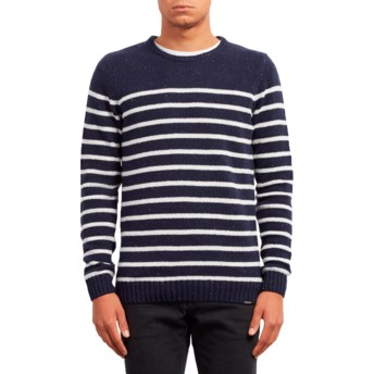 Pull bleu marine Edmonder Striped Navy Volcom