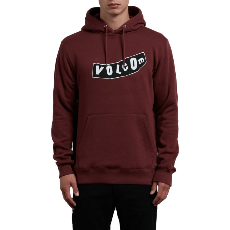 sweat-a-capuche-rouge-supply-stone-crimson-volcom