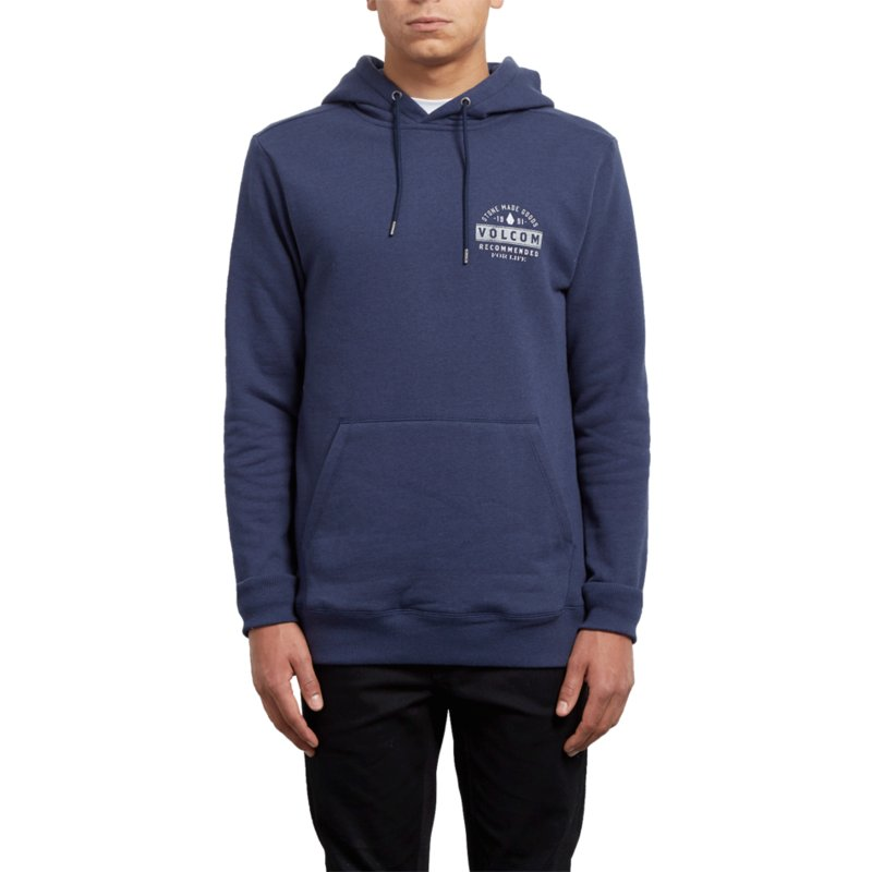 sweat-a-capuche-bleu-supply-stone-deep-blue-volcom