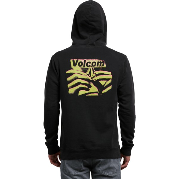 sweat-a-capuche-noir-reload-washed-black-volcom