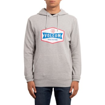 Sweat à capuche gris Supply Stone Heather Grey Volcom