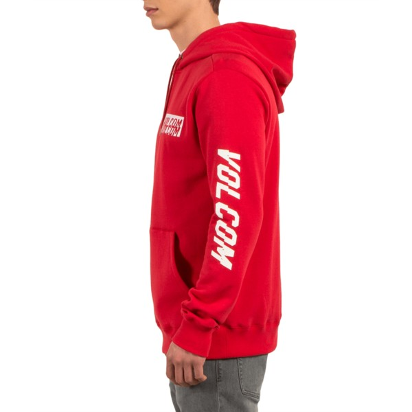 sweat-a-capuche-rouge-supply-stone-true-red-volcom