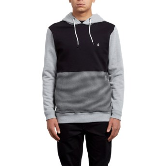Sweat à capuche gris et noir 3ZY Heather Grey Volcom