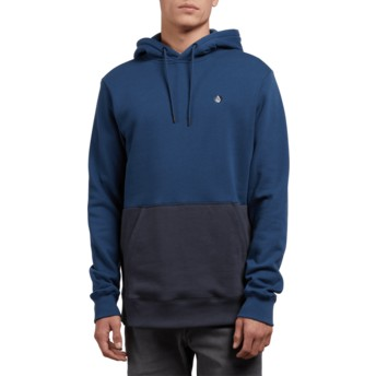 Sweat à capuche bleu Single Stone Division Matured Blue Volcom