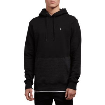 Sweat à capuche noir Single Stone Division Sulfur Black Volcom