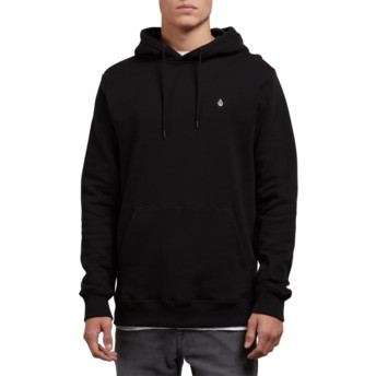 Sweat à capuche noir Single Stone Black Volcom
