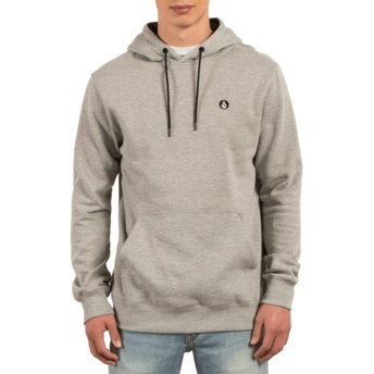 Sweat à capuche gris Single Stone Grey Volcom
