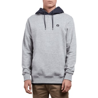 Sweat à capuche gris Single Stone Storm Volcom