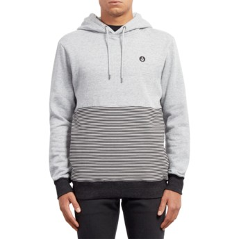 Sweat à capuche gris Threezy Grey Volcom
