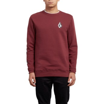 Sweat-shirt rouge Supply Stone Crimson Volcom