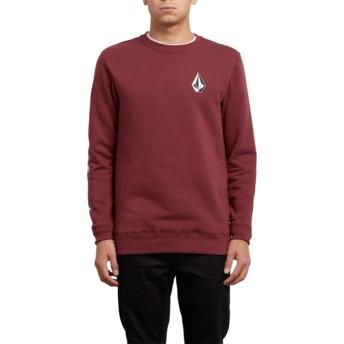 Sweat-shirt rouge Supply Stone Crimson Volcom