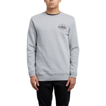 Sweat-shirt gris True to This Supply Stone Grey Volcom