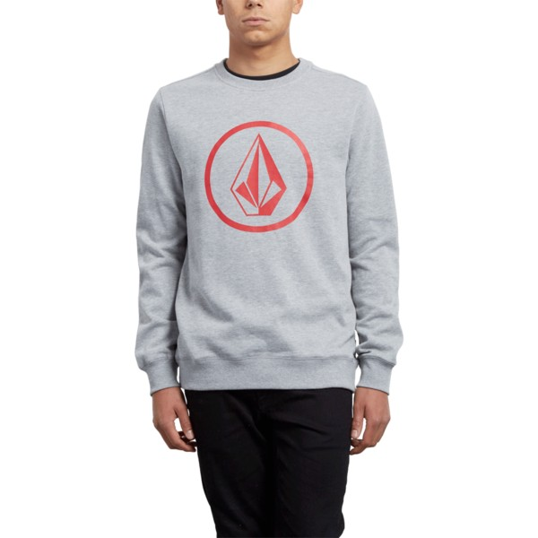 sweat-shirt-gris-stone-grey-volcom