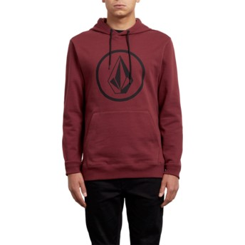 Sweat à capuche rouge Stone Crimson Volcom