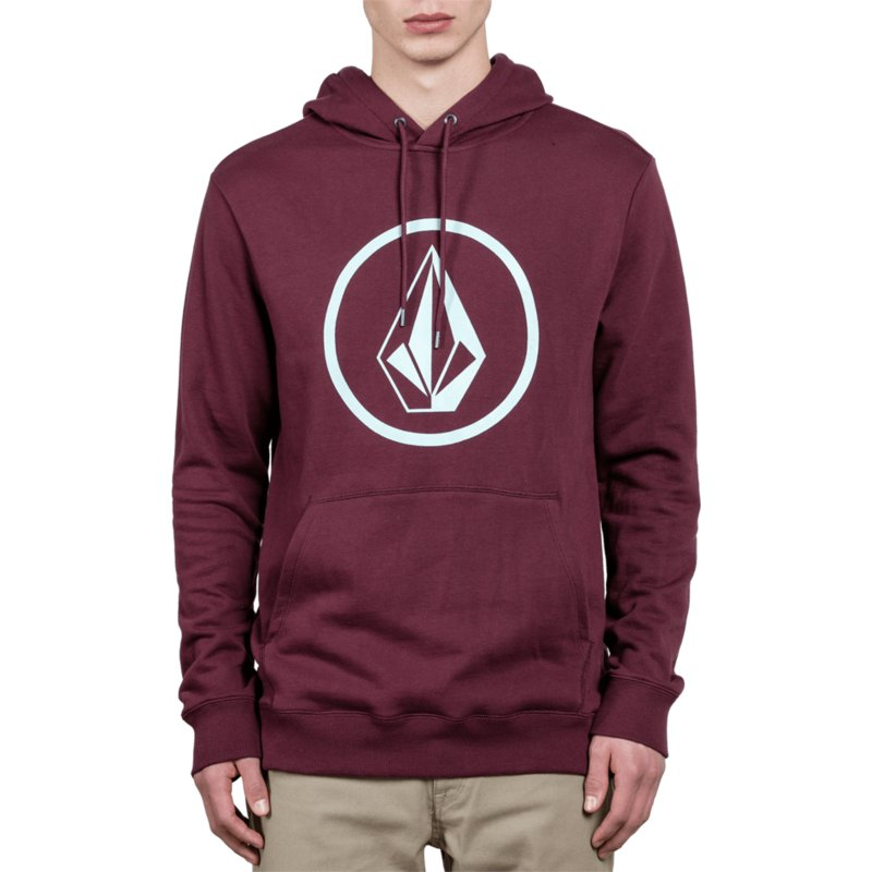 sweat-a-capuche-grenat-stone-dark-port-volcom