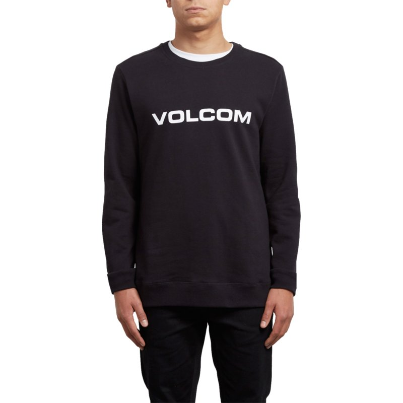 sweat-shirt-noir-imprint-black-volcom