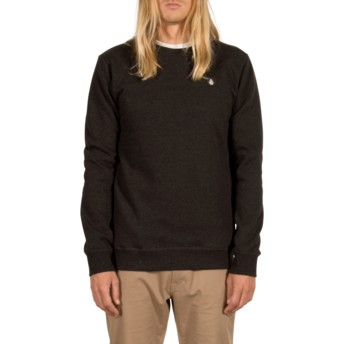 Sweat-shirt noir Single Stone Asphalt Black Volcom