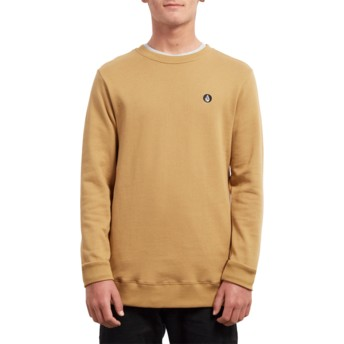 Sweat-shirt jaune Single Stone Old Gold Volcom