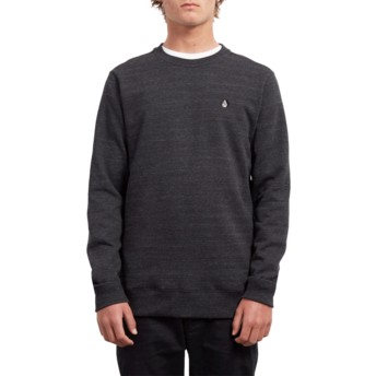 Sweat-shirt noir Single Stone Sulfur Black Volcom
