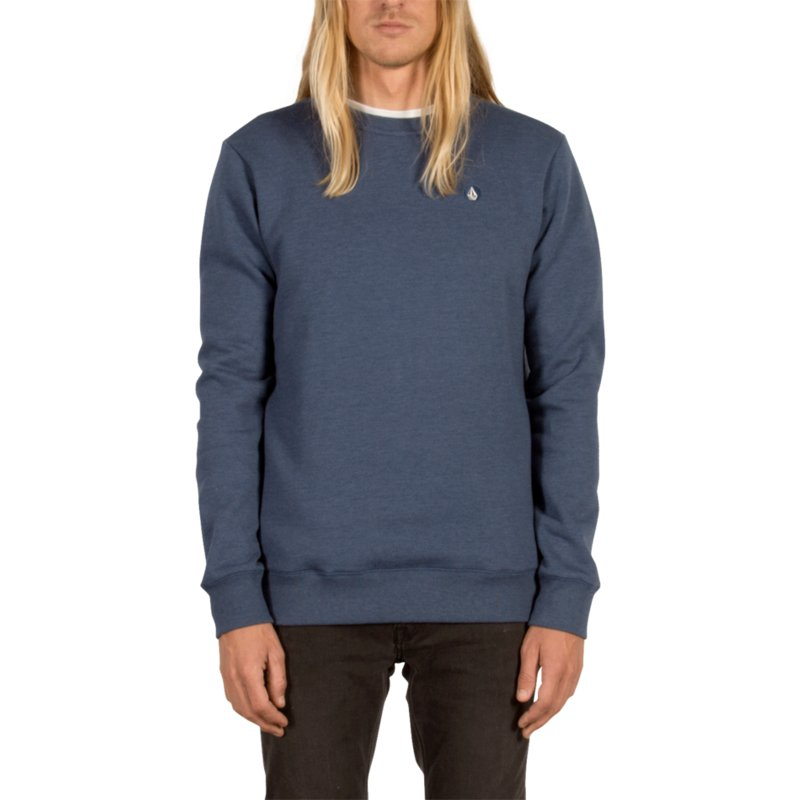 sweat-shirt-bleu-single-stone-smokey-blue-volcom