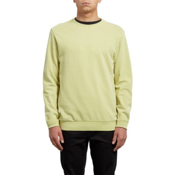 Sweat-shirt jaune Case Shadow Lime Volcom
