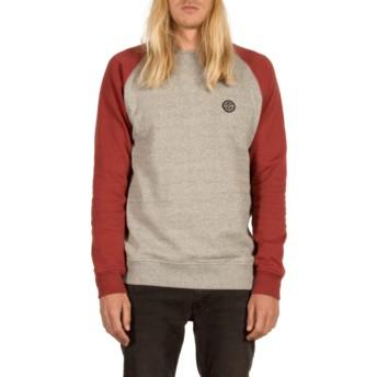 Sweat-shirt gris et rouge Homak Cabernet Volcom